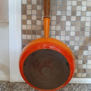 Cousances 28 made in France orange frying pan